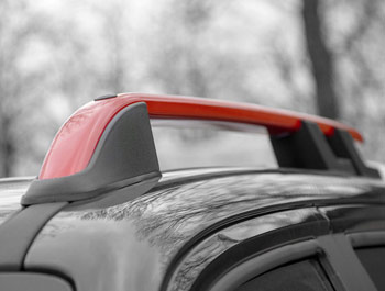 Red Edition Aluminium Roof Bars - VW Amarok 2010>