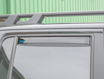 Climair Rear Smoked Wind Deflectors - VW Amarok 2010>