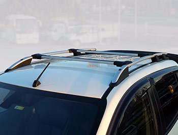 Silver Aluminium Roof & Cross Bars - Mitsubishi L200 2015>