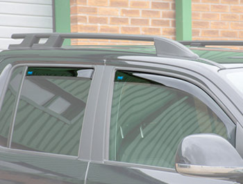 Climair Front & Rear Smoked Wind Deflectors - VW Amarok 2010>