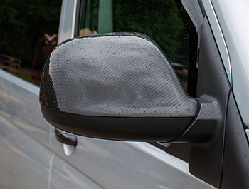 Real Carbon Fibre Mirror Covers - VW Amarok 2010>