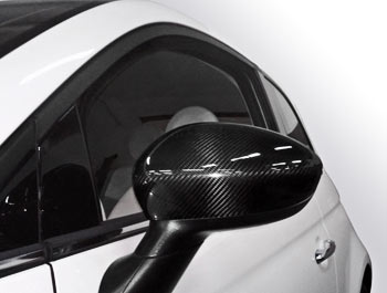 Genuine Carbon Fibre Mirror Covers - Fiat 500 2007>