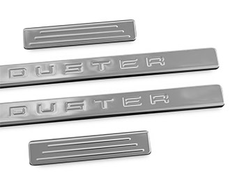 Polished Stainless Steel Door Sill Covers - Dacia Duster 2012>