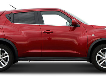 Polished Stainless Steel Window Trim Set - Nissan Juke 2011>