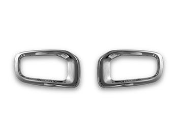 Polished S.Steel Front Fog Light Surrounds - Jeep Renegade 2014>