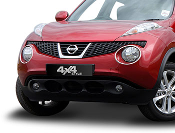 Polished Stainless Steel Headlight Surrounds - Nissan Juke 11-14