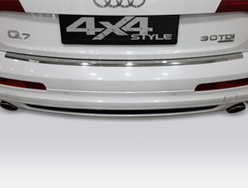 Polished Stainless Steel Rear Bumper Protector - Audi Q7 06-15