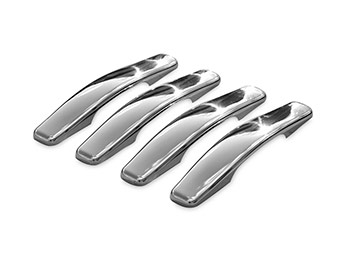 Stainless Steel 4 Door Handle Cover Set - Dacia Duster 2010>