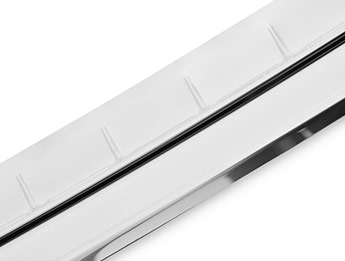 Polished Stainless Steel Rear Bumper Protector - Q7 2015>