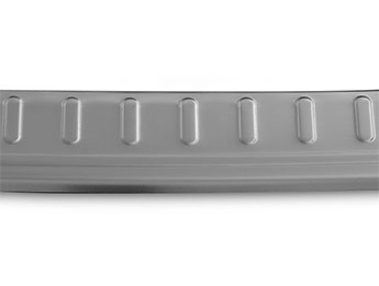Brushed Stainless Steel Bumper Protector - Nissan X-Trail 2014>