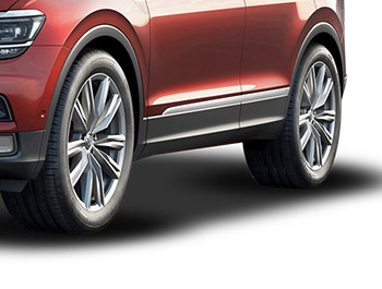 Polished Stainless Steel Door Streamers - VW Tiguan 2016>