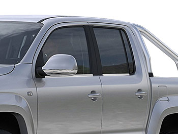 Polished Stainless Steel Window Trim Set - VW Amarok 2010>