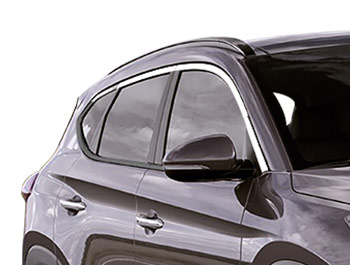 Polished Stainless Steel Window Trim 10pcs - Hyundai Tucson 15>