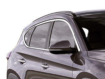 Polished Stainless Steel Window Trim 14pcs - Hyundai Tucson 15>