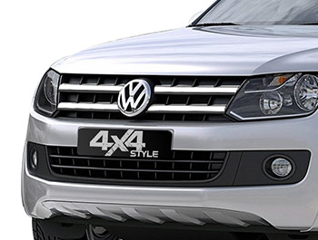 4 Piece Stainless Steel Upper Grille Wide Trim - Amarok 10-16