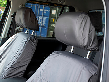 Genuine VW Front Waterproof Seat Covers Grey - VW Amarok 10>