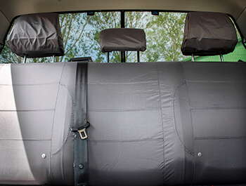 Genuine VW Rear Waterproof Seat Covers Grey - VW Amarok 10>