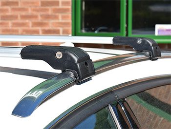 Silver Aluminium Wing Carrier Cross Bars - Audi Q3 2012>