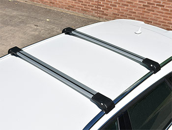 Silver Aluminium Wing Carrier Cross Bars - Suzuki Vitara 2016>