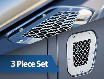 Zunsport Polished Stainless Fender Grille Set - LR Defender 07>