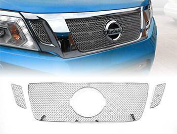 Zunsport Polished Stainless Upper Front Grille - Navara 2016>