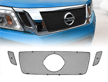 Zunsport Black Nylon Coated Upper Grille Set - Navara 2016>