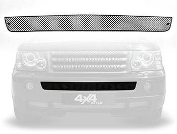 Zunsport Black Nylon Coated Front Centre Grille - RR Sport 06-09