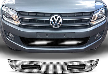 Zunsport Black Nylon LED DRL Lower Grille - VW Amarok 10-16
