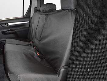 Tailored Fit Rear Black Seat Cover - Toyota Hilux Active 15>