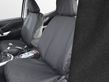 Tailored Fit Front Black Seat Covers - Nissan Navara 2016>