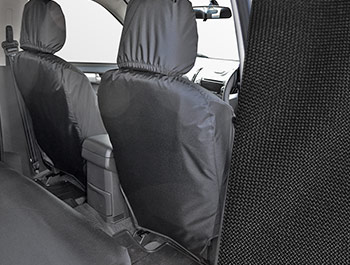 Tailored Fit Front Black Seat Cover Set - Isuzu D-Max 2012>
