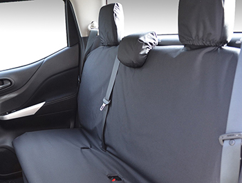 Tailored Fit Rear Bench Black Seat Cover - Mercedes X-Class 17>