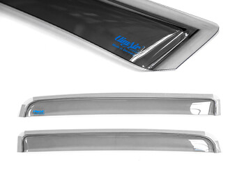 Climair Rear Smoked Wind Deflectors - Isuzu D-Max 2012>