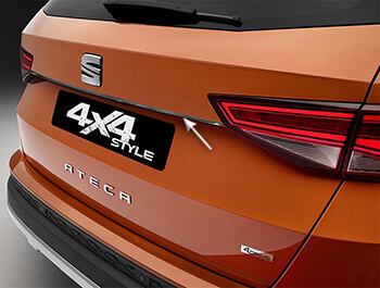 Polished Chrome Tailgate Trim Line - Seat Ateca 2016>