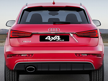 Stainless Steel Rear Grab Handle Trim Line Cover - Audi Q3 12>18