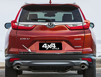 Polished Stainless Steel Tailgate Trim Line - Honda CRV 17>