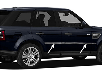 Stainless Steel Side Door Streamers - Range Rover Sport 05>13