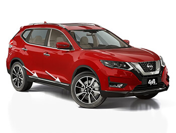 Chrome Side Door Lower Streamer Set - Nissan X-Trail 14>
