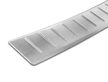 Brushed Stainless Steel Rear Bumper Protector - Crossland X 17>
