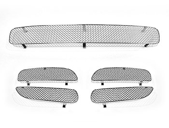 Zunsport Polished Chrome Full Grille Set - Porsche Cayenne 03-08