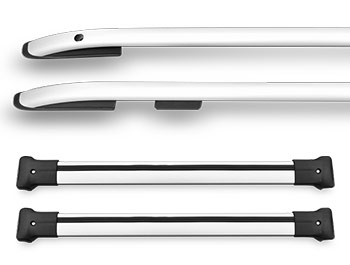Silver Aluminium Roof & Cross Bars - Mazda CX5 12-17
