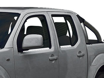 Polished Stainless Steel Window Trim - Nissan Navara 05>15