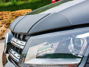 Textured Black ABS Ridged Bonnet Protector - VW Amarok 2010>