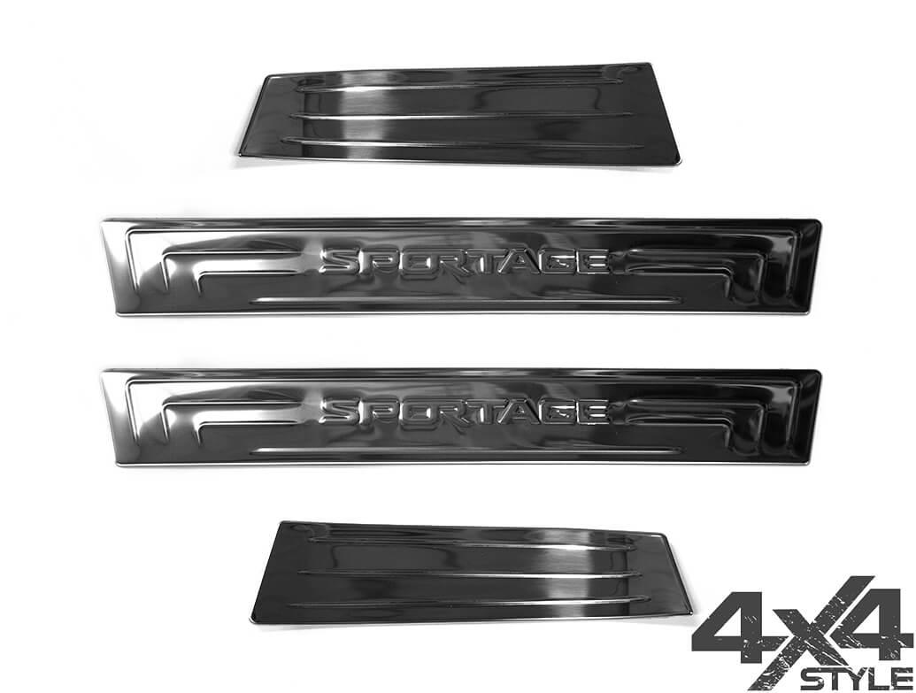 Polished S.Steel Door Sill Covers - Kia Sportage III 2010 - 2015