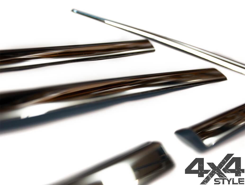 Polished Stainless Steel Window Trim 8pc - Vauxhall Mokka 2012>