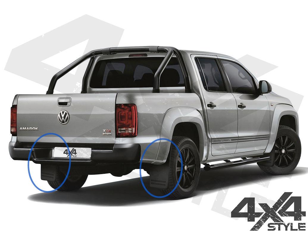 VW Amarok Genuine OE Flared Arch Rear Mud Flaps
