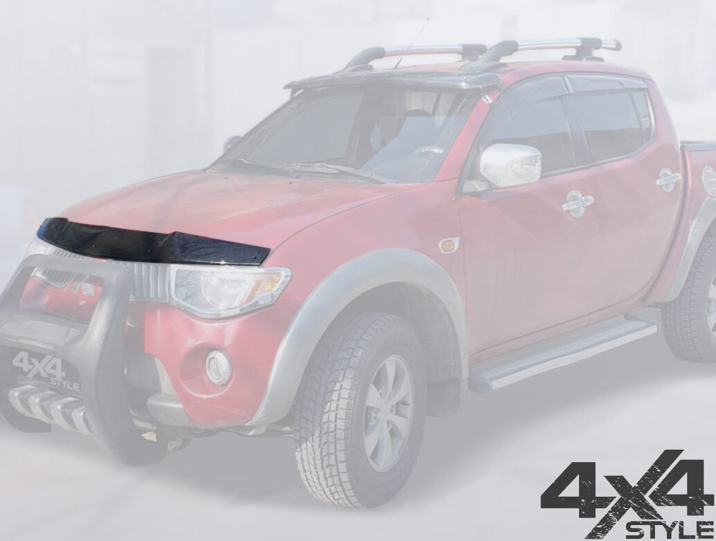 Mitsubishi L200 2006-2015 Black Acrylic Bonnet Wind Deflector