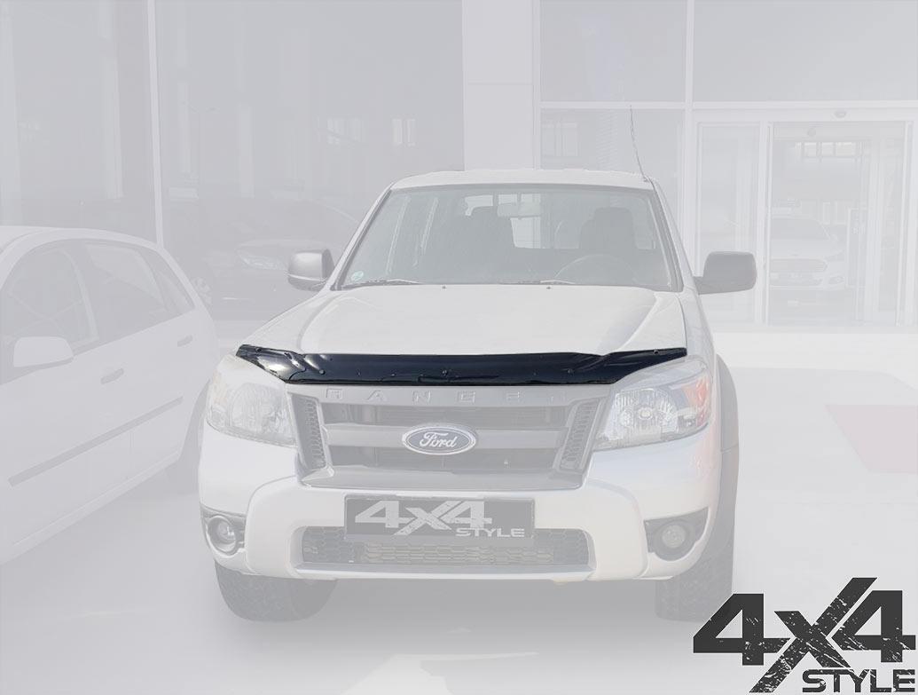 Ford Ranger 2009-2011 Black Acrylic Bonnet Wind Deflector