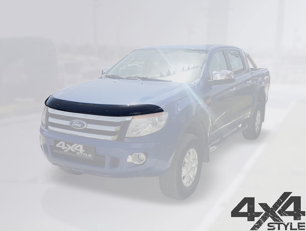 Ford Ranger 2011-15 Black Acrylic Bonnet Wind Deflector