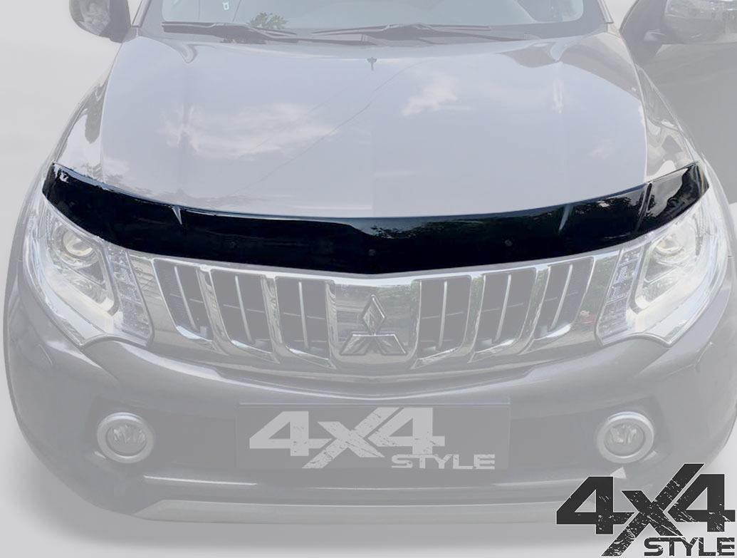 Mitsubishi L200 2015+ Black Acrylic Bonnet Wind Deflector